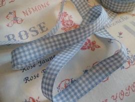 Borduurband Blauw/Wit 2,7 cm