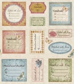 Simple Pleasures Quilt labels stof