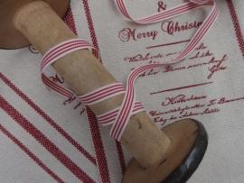 Bandje rood crème streepje
