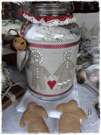 V&H Borduurband Gingerbread 24 cm