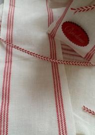 V&H Dubbele band Wit met rode streep
