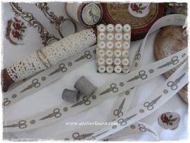 D Bandje Vintage Off-White Schaartje