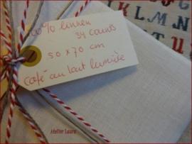 Borduurlinnen Café au Lait Lumière 34 ct
