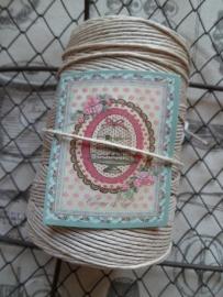 Clayre & Eef Bind touw klos Beige/creme