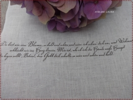 V&H Borduurband Gebleekt met tekst  26 cm