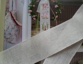 V&H Linnen Band Off-White 5 cm