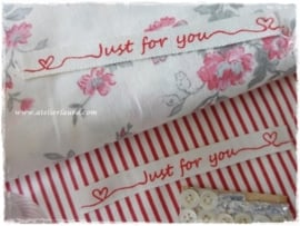 """Acufactum Bandje """"Just for You"""" Creme Rood"""