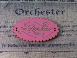 PBJ Message Petit Bonheur du Jour Pink