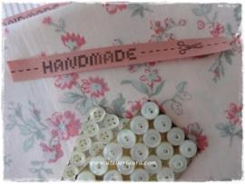 "Acufactum Bandje ""Handmade"" Vintage Roze"