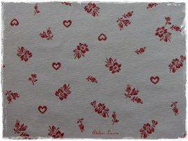 Country Living Dubbelzijdige Stof Hearts & Roses