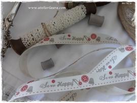 D Bandje Vintage Off-White Sew Happy