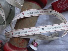 Vintage bandje Handmade with Love