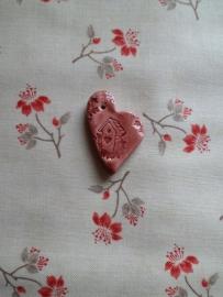 EDC Faïence Coeur Nichoir Coeur. Rouge