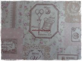 Stofje Vintage Sewing Beige/Rose