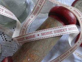 Vintage bandje Home Sweet Home Rood