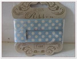 Tilda Ribbon dots Grey