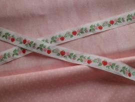 Acufactum Schmuckband Blüten-Apfelgirlande Rot/Weiss