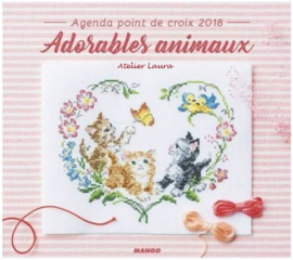 Agenda Point de Croix 2018 Adorable Animaux