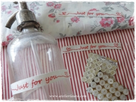 "Acufactum Bandje ""Just for You"" Creme Rood"