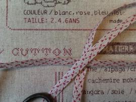 CD Frans Bandje Naturel/Rood Stiksteekje