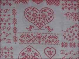 Stof Shabby Cross Stitch Pink