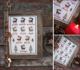 The Little Stitcher Santa's Rendeer
