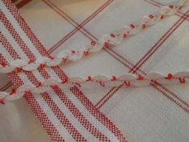 Kronkelbandje Wit met rood lusje