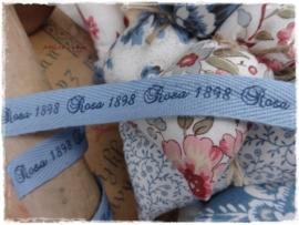 Bandje blauw met tekst ROSA 1898