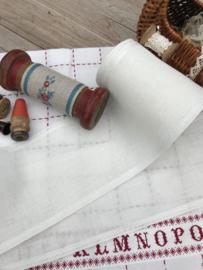 Vaupel & Heilenbeck Off-White band 12 cm met geweven rand