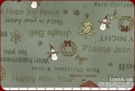 LC Vintage kerst grijsgroen I