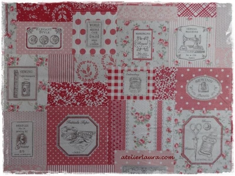 Stofje Vintage Sewing Rouge/Rose