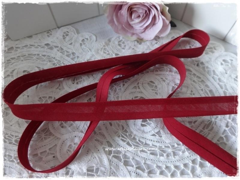 Baisbandje vintage rood - bordeaux col 547