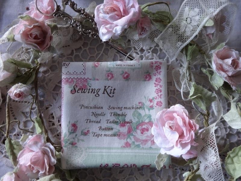 Sewing Off-White Roze Linnen/Katoen