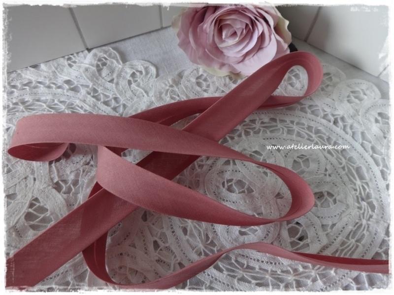 Baisbandje vintage oud rose col 861