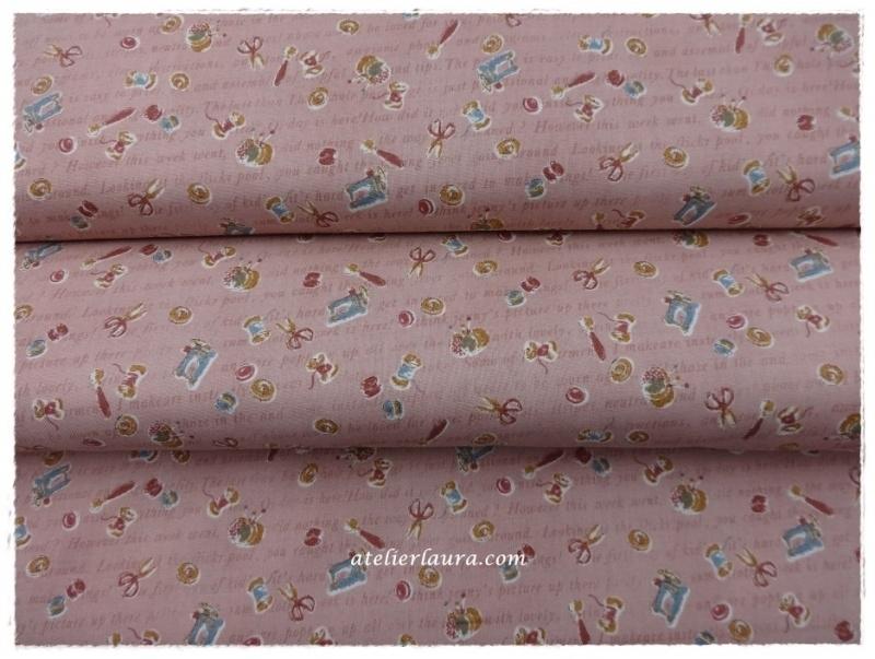 Stofje Vintage Roze Sewing A