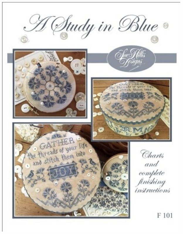 Sue Hills Designs - A Study in Blue