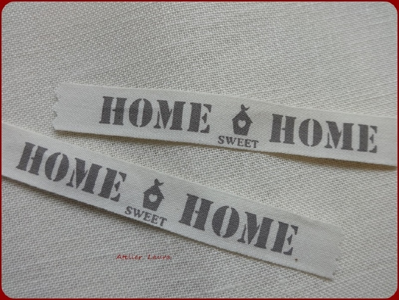 Stoffen Label Home sweet Home