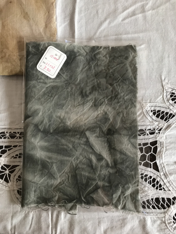 HandDyed linnen 12 drds GreyClay 28 x 28 cm