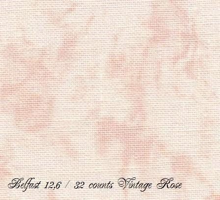 Zweigart Belfast Vintage Rose