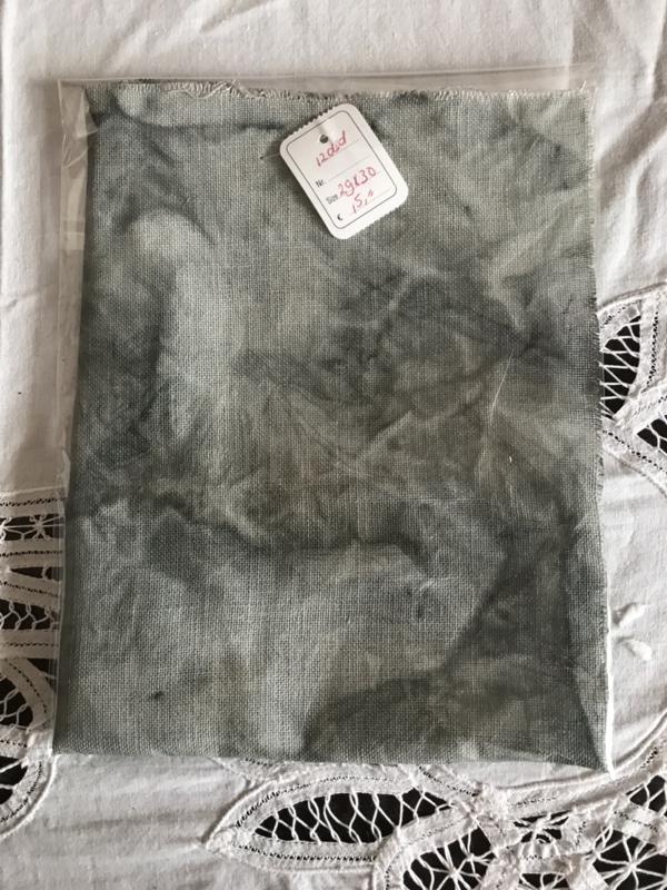 HandDyed linnen 12 drds GreyClay 29 x 30 cm