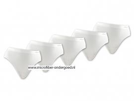 Microfiber Taille Slips wit 5 voor €10,-