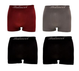 Microfiber Boxershorts Belucci clasic Grey/Red Black M/L 4 Pack €10,95,-