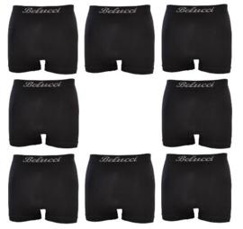 Microfiber Boxershorts Belucci clasic  Zwart M/L 8 Pack €19,95,-