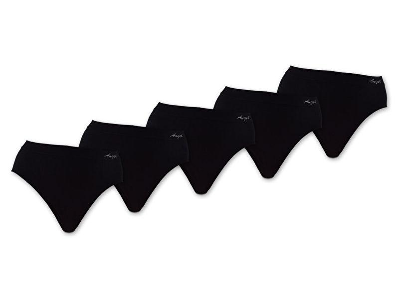Microfiber Taille Slips zwart 5 voor €10,-