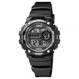 Q&Q Pro-Sport Digitaal Alarm-Chrono Horloge 10 ATM Zwart