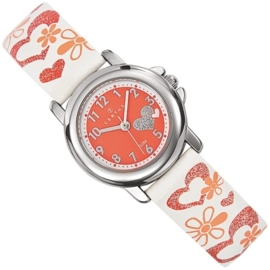 Certus Meisjes Horloge Hartjes 26mm Rood