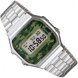 Casio Alarm Chrono Digitaal Horloge Camo Groen 35mm
