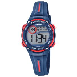 Calypso Digitaal Chrono-Alarm Kinderhorloge 33mm Donkerblauw