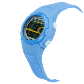 Coolwatch Digitaal Jongenshorloge Skills 10ATM Lichtblauw