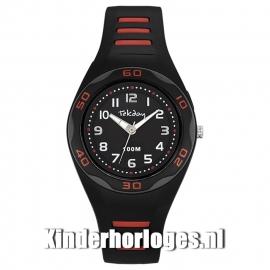 Tekday Horloge met Cijferverlichting 100m Zwart/Rood